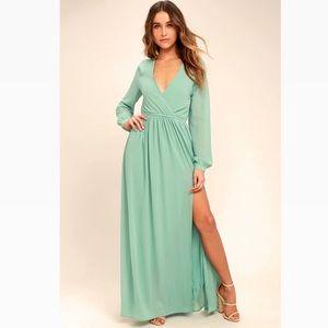 NWT🎉 'Wondrous Water Lilies' Sage Maxi Dress